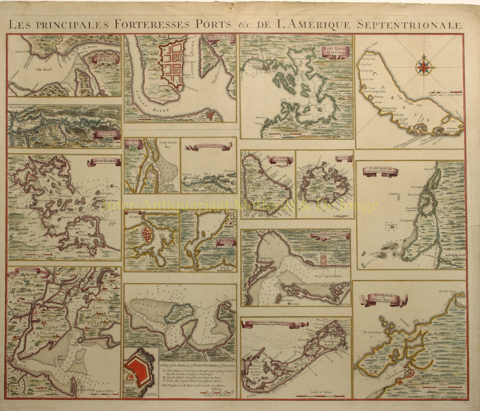 COVENS & MORTIER - American ports, West-Indies - Covens & Mortier, c. 1740