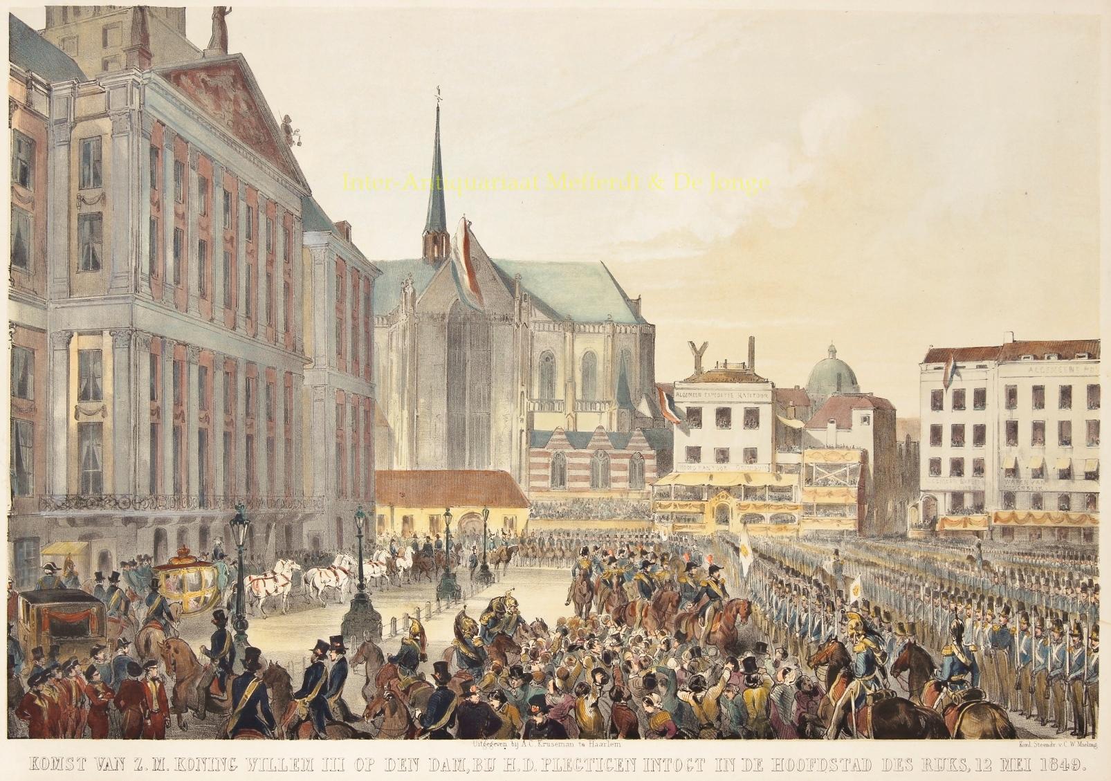 - Amsterdam, intocht Willem III - Charles Rochussen, 1849