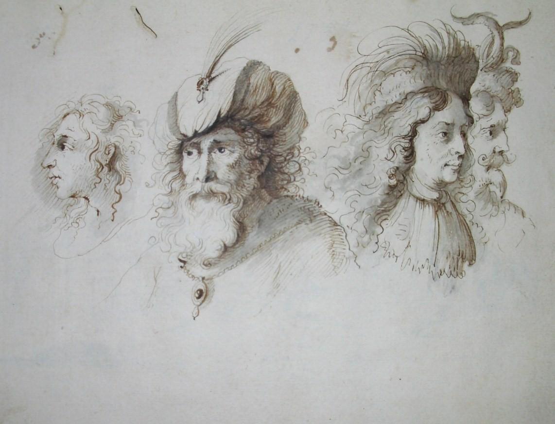 FLAMEN,  ABERT (BRUGES C. 1620 - AFTER 1691 PARIS) - Sketchbook - Albert Flamen, 1679