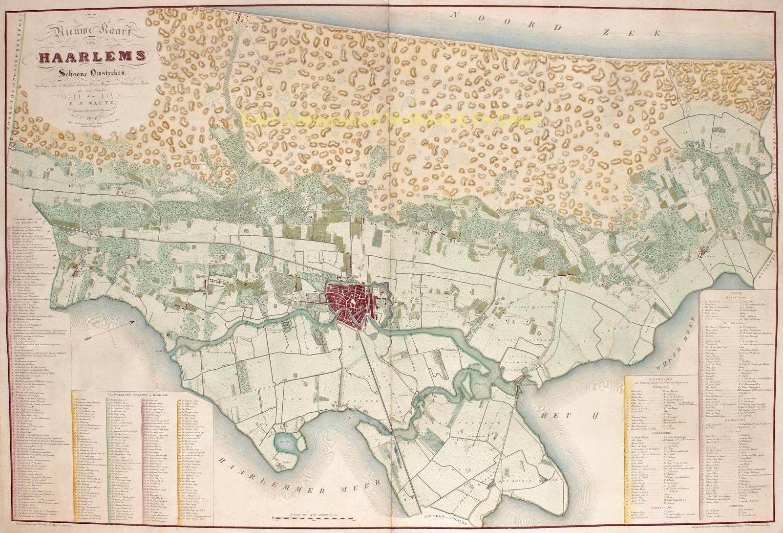 BAARSEL,  W.C. VAN - Omgeving Haarlem - 1836