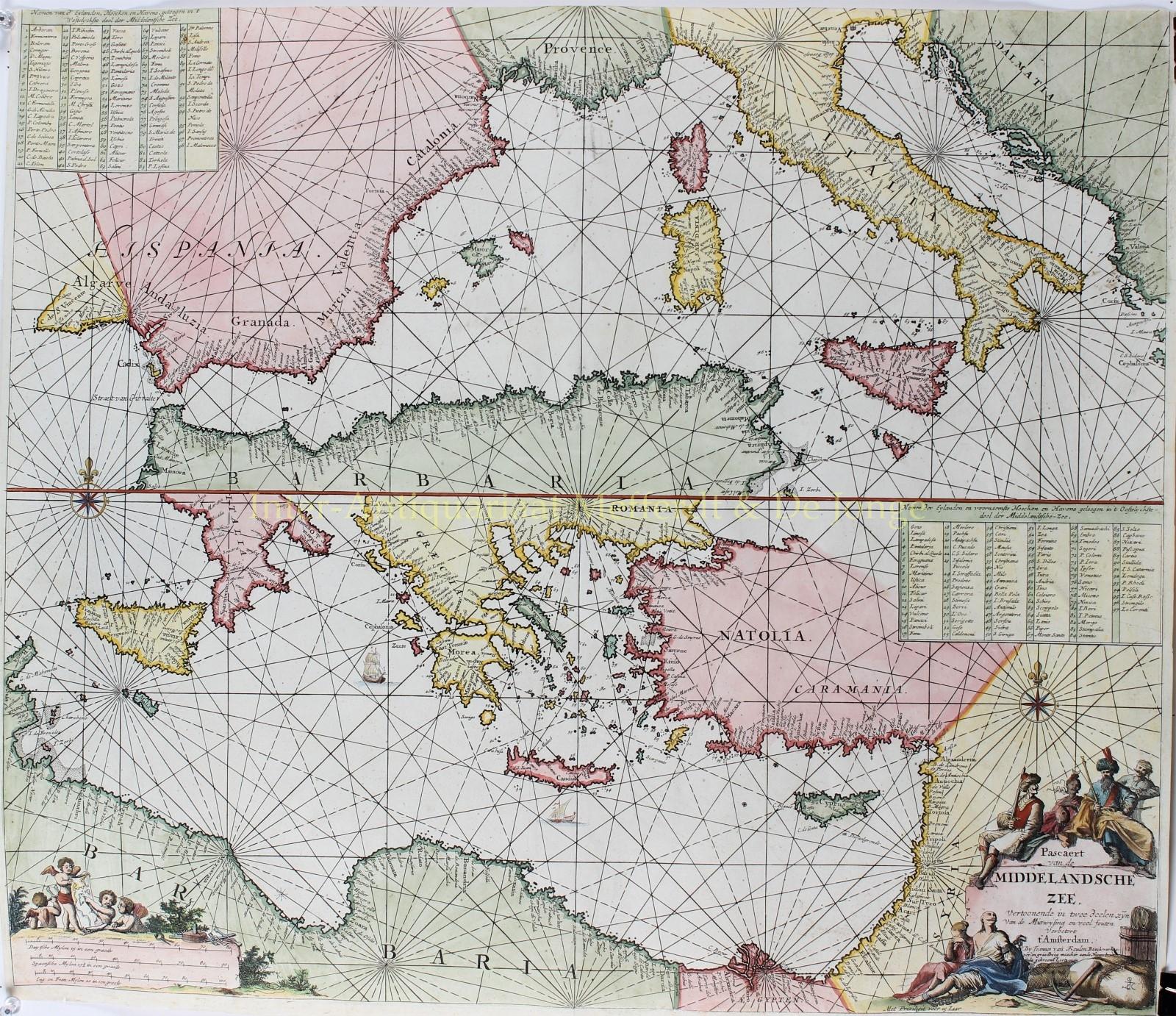 KEULEN,  IOANNES VAN - Middellandse Zee - Johannes van Keulen, 1680-1700
