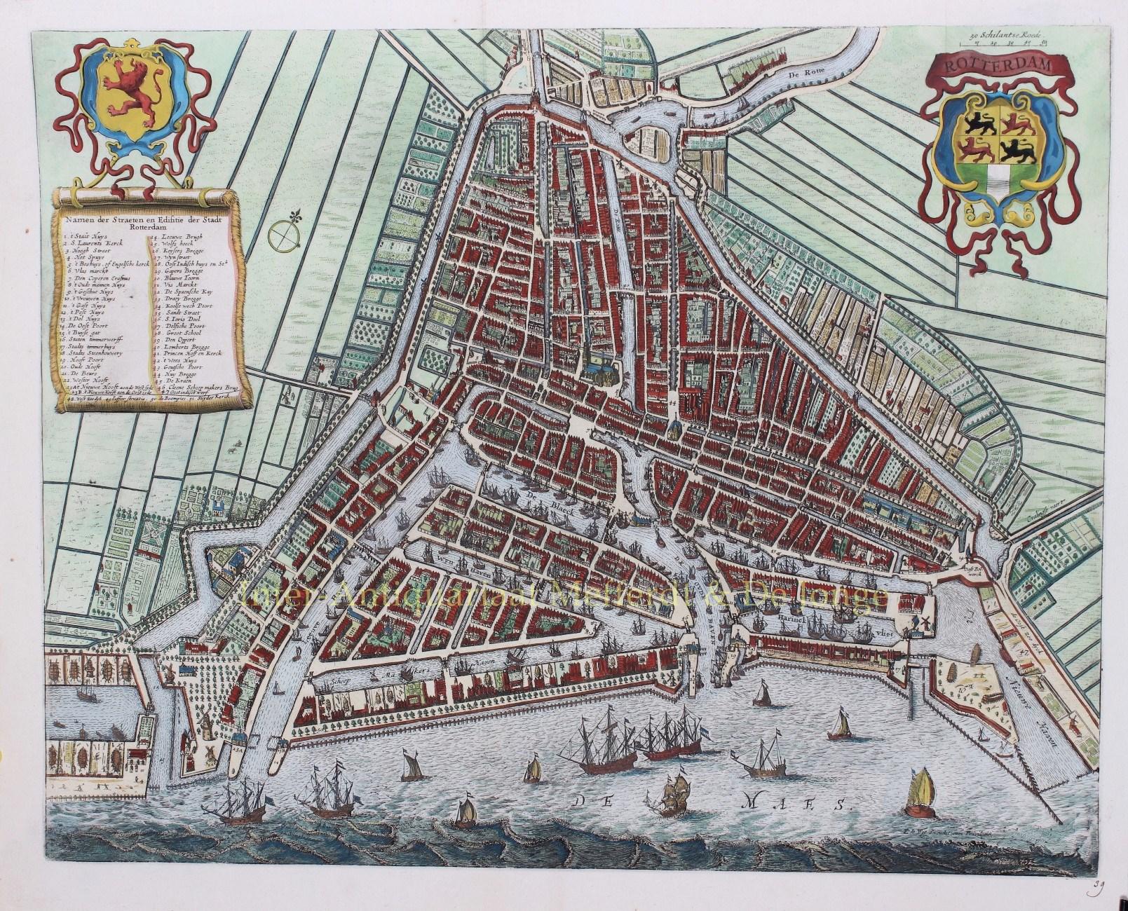 LETI,  GREGORIO (1630-1701) - Rotterdam - Gregorio Leti (Frederick de Wit), 1690