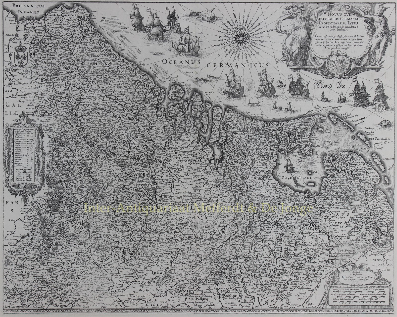 BLAEU,  WILLEM - Zeventien Provinciën - Willem Blaeu, 1630